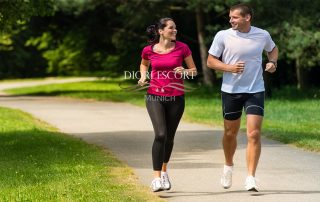 City run with your athletic escort
